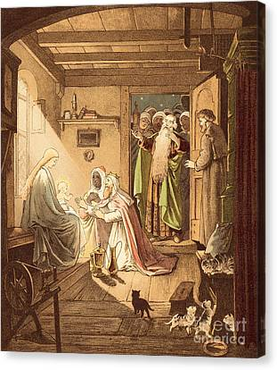 The Three Kings Canvas Print by Victor Paul Mohn
