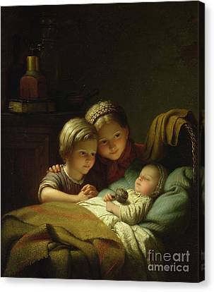 The Three Sisters Canvas Print by Johann Georg