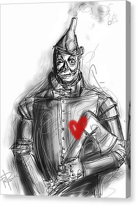 The Tin Man Canvas Print by Russell Pierce