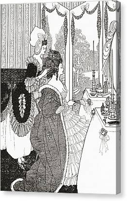 The Toilet After Aubrey Beardsley. From Canvas Print by Vintage Design Pics