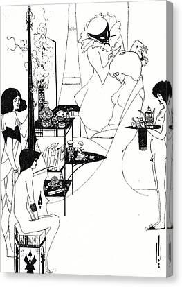 The Toilette Of Salome Canvas Print by Aubrey Beardsley