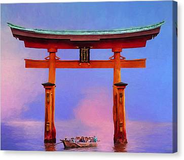 The Torii Gate Canvas Print by Dominic Piperata