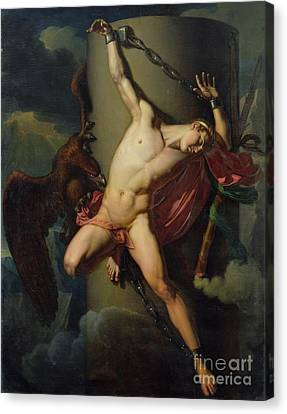 The Torture Of Prometheus Canvas Print by Jean-Louis-Cesar Lair