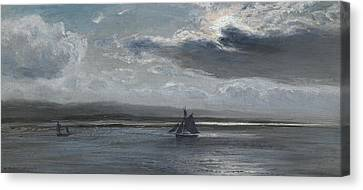 The Traeth Mawr, Moonlight Canvas Print by Henry Moore