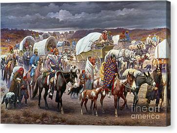 The Trail Of Tears Canvas Print by Granger