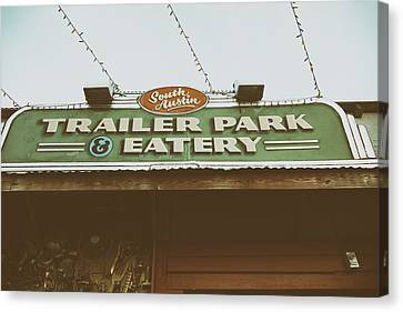 The Trailer Park Eatery Canvas Print by Mountain Dreams