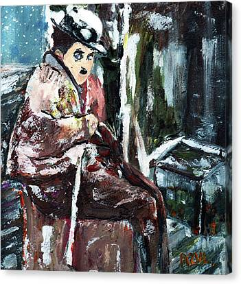 The Tramp Canvas Print by Azul Fam