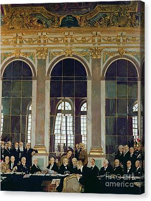 The Treaty Of Versailles Canvas Print by Sir William Orpen