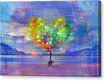 The Tree Of Hearts Canvas Print by Tara Turner