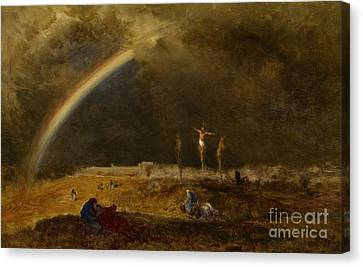 The Triumph At Calvary Canvas Print by George Inness