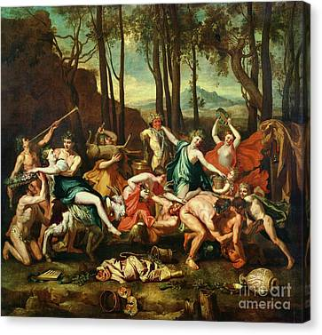 The Triumph Of Pan Canvas Print by Nicolas Poussin