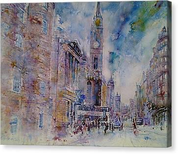 The Tron High Street  Edinburgh  Canvas Print by Robert Hogg