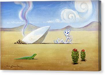 The Truth About Roswell Canvas Print by John Deecken