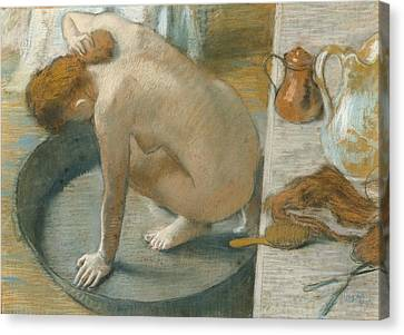 The Tub Canvas Print by Edgar Degas