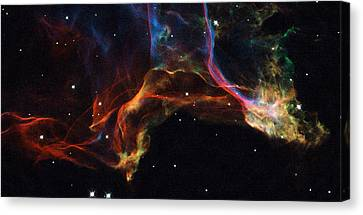 The Twisted Shockwaves Of An Exploded Star Canvas Print by Nasa