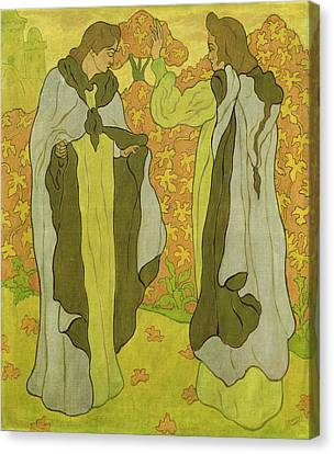 The Two Graces Canvas Print by Paul Ranson