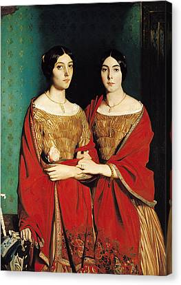 The Two Sisters Canvas Print by Theodore Chasseriau