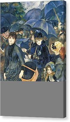The Umbrellas Canvas Print by Pierre Auguste Renoir