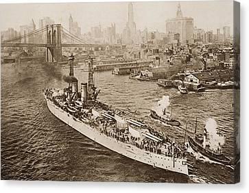 The United States Battleship, Texas Canvas Print by Vintage Design Pics