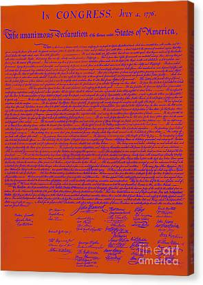 The United States Declaration Of Independence 20130215m108 Canvas Print by Wingsdomain Art and Photography