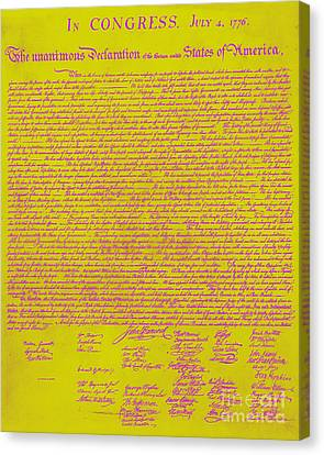 The United States Declaration Of Independence 20130215m68 Canvas Print by Wingsdomain Art and Photography