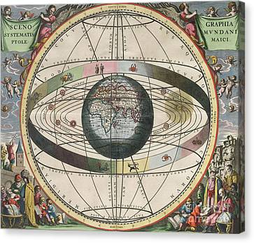 The Universe Of Ptolemy Harmonia Canvas Print by Science Source