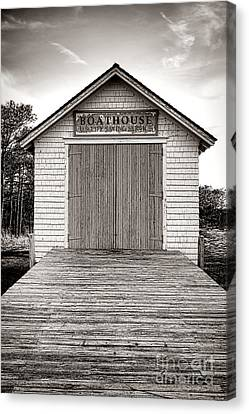 The U.s. Life Saving Service Boathouse Canvas Print by Olivier Le Queinec