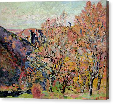 The Valley Of The Sedelle In Crozant Canvas Print by Jean Baptiste Armand Guillaumin
