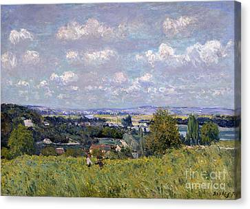 The Valley Of The Seine At Saint Cloud Canvas Print by Alfred Sisley