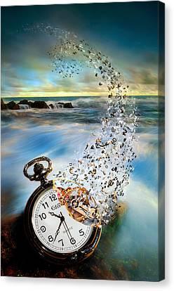 The Vanishing Time Canvas Print by Sandy Wijaya