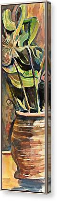 The Vase In The Corner Canvas Print by Mindy Newman