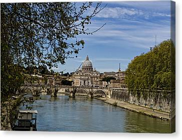 The Vatican By Day Canvas Print by Michelle Sheppard
