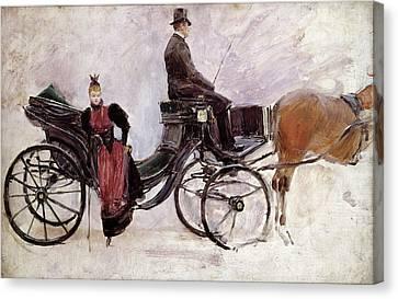 The Victoria Canvas Print by Jean Beraud