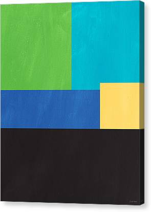 The View From Here- Modern Abstract Canvas Print by Linda Woods