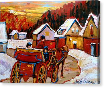The Village Of Saint Jerome Canvas Print by Carole Spandau