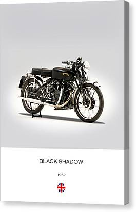 The Vincent Black Shadow Canvas Print by Mark Rogan