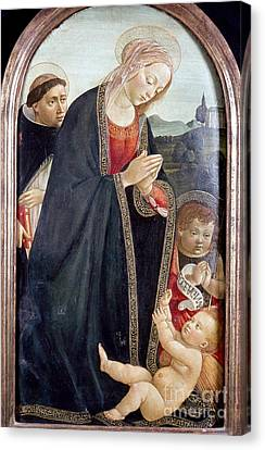 The Virgin And Child Canvas Print by Granger