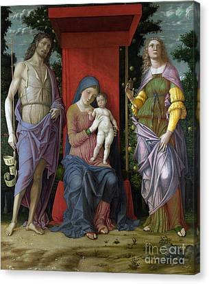 The Virgin And Child With Saints Canvas Print by Celestial Images