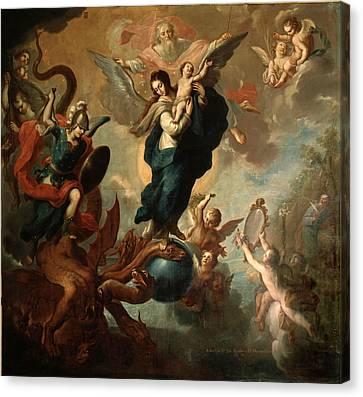 The Virgin Of The Apocalypse Canvas Print by Miguel Cabrera