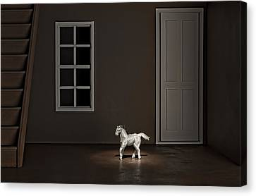 The Visit Canvas Print by Jeff  Gettis