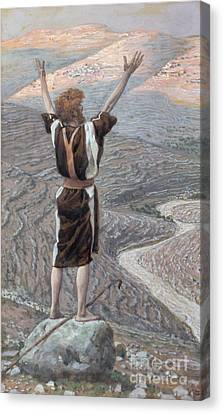 The Voice In The Desert Canvas Print by Tissot