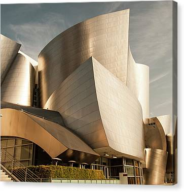 The Walt Disney Concert Hall In La Canvas Print by Phong Trinh