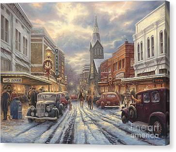 The Warmth Of Small Town Living Canvas Print by Chuck Pinson