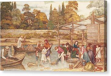 The Washing Place Canvas Print by John Roddam Spencer Stanhope