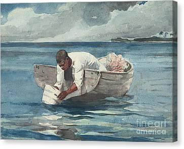 The Water Fan Canvas Print by Winslow Homer