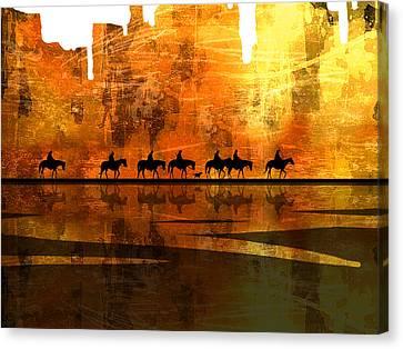 The Weary Journey Canvas Print by Paul Sachtleben