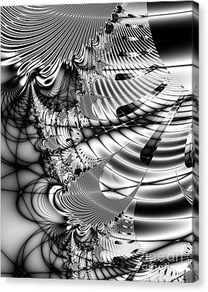 The Web We Weave Canvas Print by Wingsdomain Art and Photography