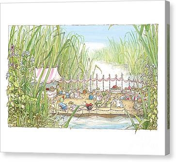 The Wedding Party Canvas Print by Brambly Hedge