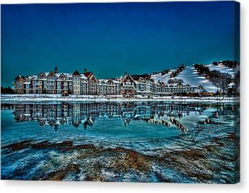 The Westin On Ice Canvas Print by Jeff S PhotoArt