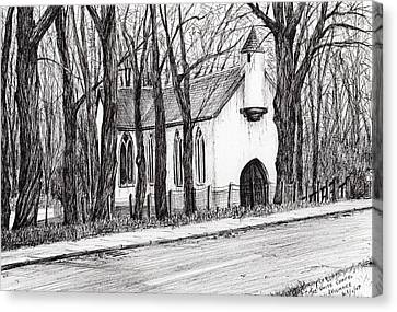 The White Chapel Canvas Print by Vincent Alexander Booth